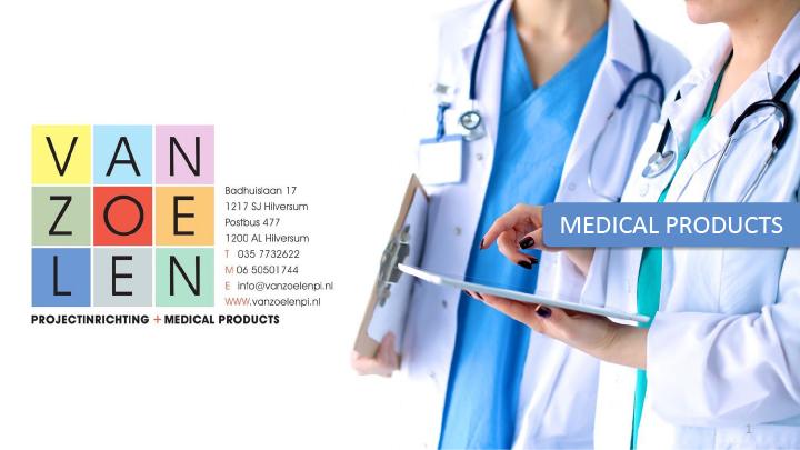 Van Zoelen Medical Products brochure